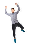 Man jumping and smiling Stock Photography