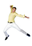 The man jumping on a white background Stock Image