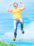 Man jumps Royalty Free Stock Image
