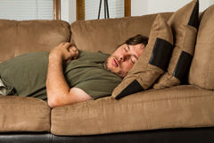 Man just out cold Stock Photos