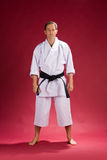 Man in karate kimono Royalty Free Stock Photos