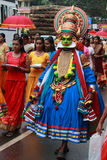 Man with kathakali costume Royalty Free Stock Photos