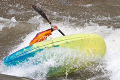 Man in kayak Stock Photos