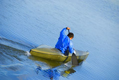 Man in kayak Royalty Free Stock Photo