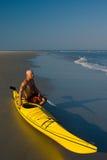 Man with Kayak Stock Photo