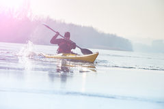 Man with the kayak Stock Photo