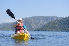 Man in kayak Royalty Free Stock Image