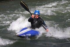 Man in a kayak Royalty Free Stock Images