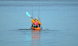Man in kayak Stock Photography