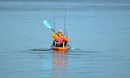 Man in kayak Stock Photography