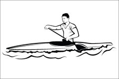 Man in a kayak Stock Photo