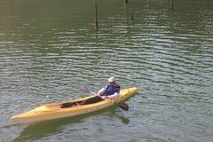 A man in kayak Stock Photo