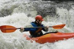 Man kayaking in river Stock Photography