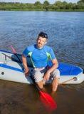 Man kayaking Royalty Free Stock Photos