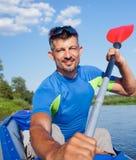 Man kayaking Royalty Free Stock Images