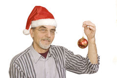 Man  keeps decoration Stock Image
