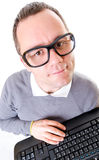 Man with keyboard Royalty Free Stock Image