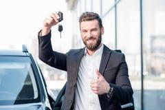 Man with keys near the car Royalty Free Stock Photo