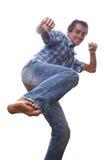 Man kicking Royalty Free Stock Image