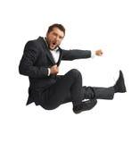Man kicking as karate Stock Photo