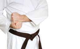 Man in a kimono and belt for martial arts Stock Photo