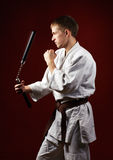 Man in kimono Stock Image