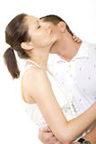Man kisses young woman Stock Photography