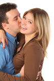 Man kisses young woman Royalty Free Stock Images