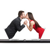 Man kissing beautiful young woman Royalty Free Stock Photo