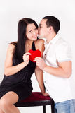 Man kissing a girl. love,Valentine's Day Royalty Free Stock Images