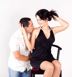 Man kissing a girl. love,Valentine's Day Royalty Free Stock Image