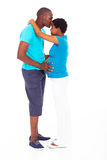 Man kissing pregnant wife Stock Photography