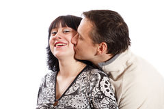 Man kissing a woman Royalty Free Stock Photos
