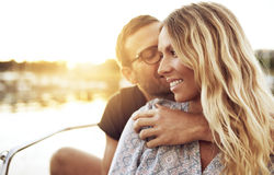 Man Kissing Woman Royalty Free Stock Image