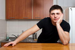 Man in kitchen Royalty Free Stock Images