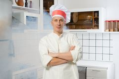 Man in the kitchen Stock Photos
