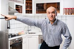 Man in the kitchen. Stock Photography