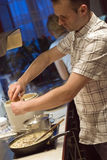 Man in kitchen Royalty Free Stock Photography