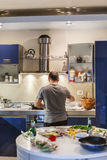 Man in the kitchen Stock Photography