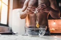 Man on kitchen stock photos