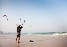 Man With Kite Royalty Free Stock Photo