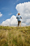 Man with kite Royalty Free Stock Images
