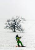 Man kite skiing Royalty Free Stock Photos