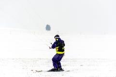 Man kite skiing Royalty Free Stock Photography