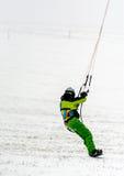 Man kite skiing Stock Photo
