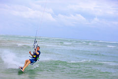 Man kite surfer in action Stock Photo