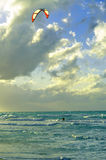 Man kite-surfing Stock Photography