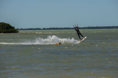 Man kiting on water Stock Photography
