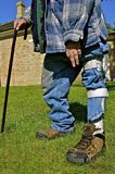 Man with knee brace Stock Photography