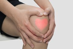 Man with knee pain, arthrosis of the knee.  royalty free stock photography